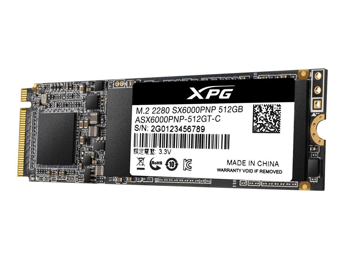 ADATA XPG SX6000 Pro - 512 GB SSD - intern - M.2 2280 - PCI Express 3.0 x4 (NVMe)