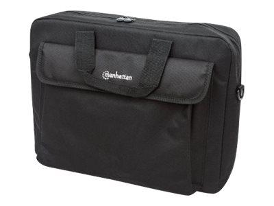 """Manhattan London Laptop Bag 15.6"""", Top Loader, Accessories Pocket, Shoulder Strap (removable)"""