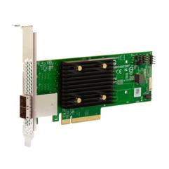 BROADCOM HBA 9500-8e - PCIe - SAS - Full-height / Low-profile - Grün - Grau - 5000000 h - Australia/New Zealand (AS/NZS CISPR 22) - Canada ICES-003 Class B - CE Europe (EN55022/EN55024),...