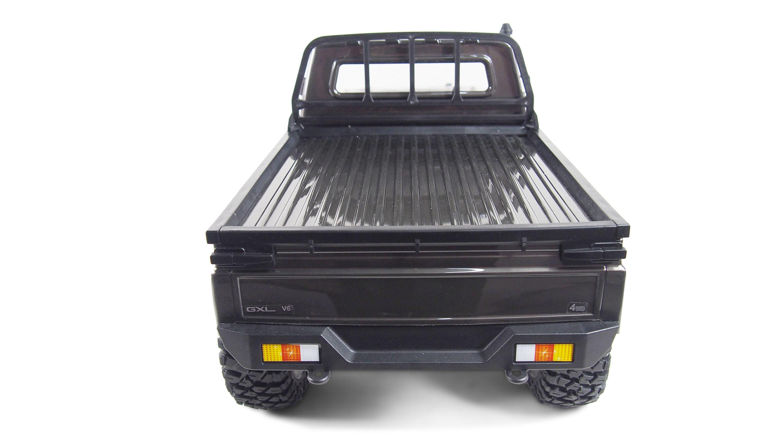Amewi AMXRock RCX10B Scale Crawler - Raupenfahrzeug - Elektromotor - 1:10 - Fahrbereit (RTD) - Schwarz - Grau - Aluminium - Metall