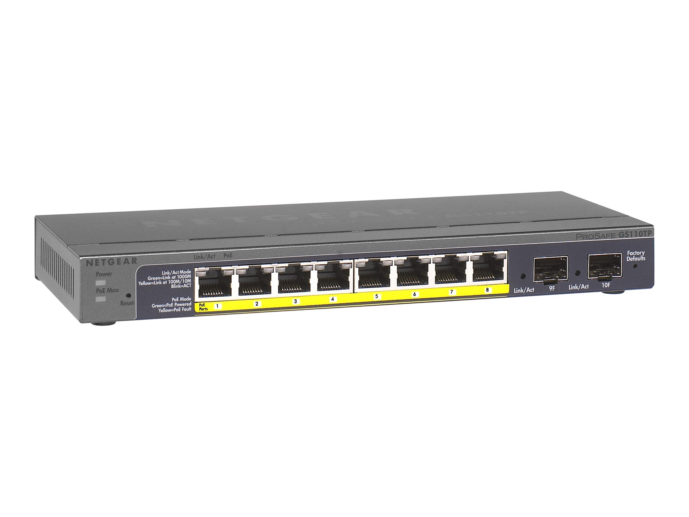 Netgear GS110TP - Switch - managed - 8 x 10/100/1000 (PoE)