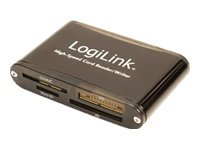 LogiLink Cardreader USB 2.0 extern - Kartenleser (CF I, CF II, MS, MS PRO, MMC, SD, MS Duo, xD, MS PRO Duo, miniSD, microSD, SDHC, miniSDHC, microSDHC)