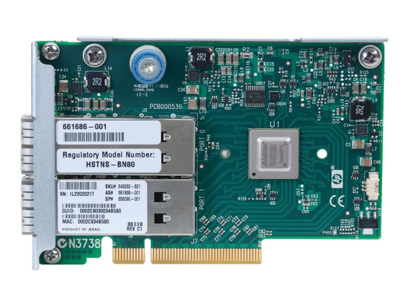 HPInfiniBand FDR/EN 10/40Gb Dual Port 544FLR-QSFP (649282-B21) - REFURB