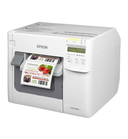 Epson TM-C3500 - Tintenstrahl - 720 x 360 DPI - 103 mm/sek - Verkabelt - Weiß