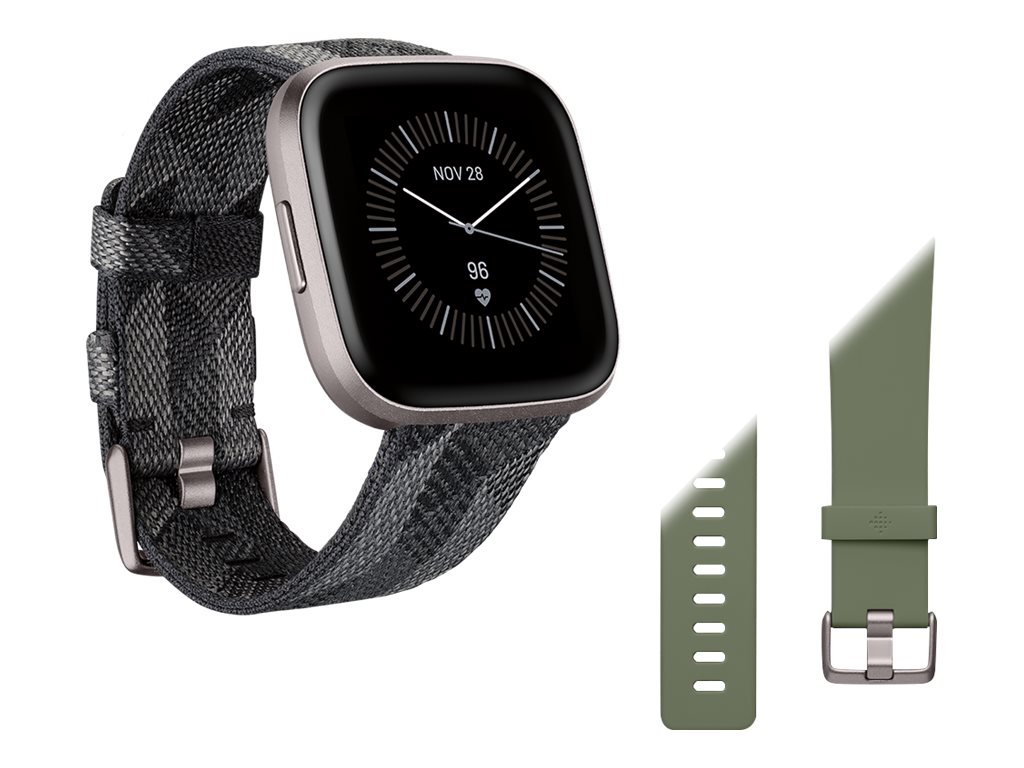 Fitbit Versa 2 Special Edition - Iron Mist - intelligente Uhr mit Band