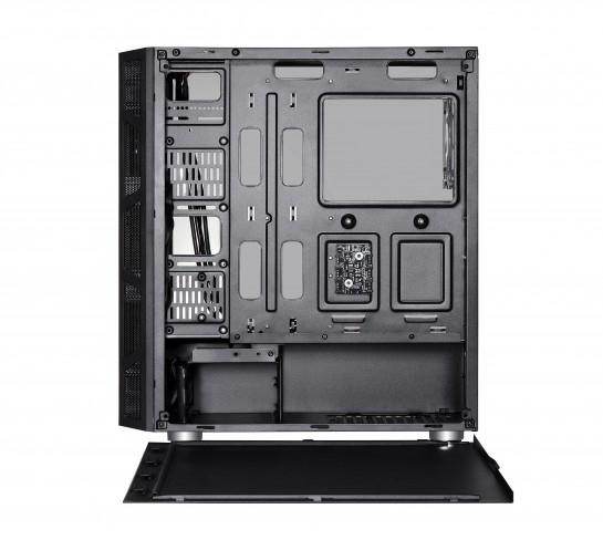 Spire VISION 7025 RGB - Midi Tower - PC - SPCC - Schwarz - ATX - micro ATX - 16,5 cm