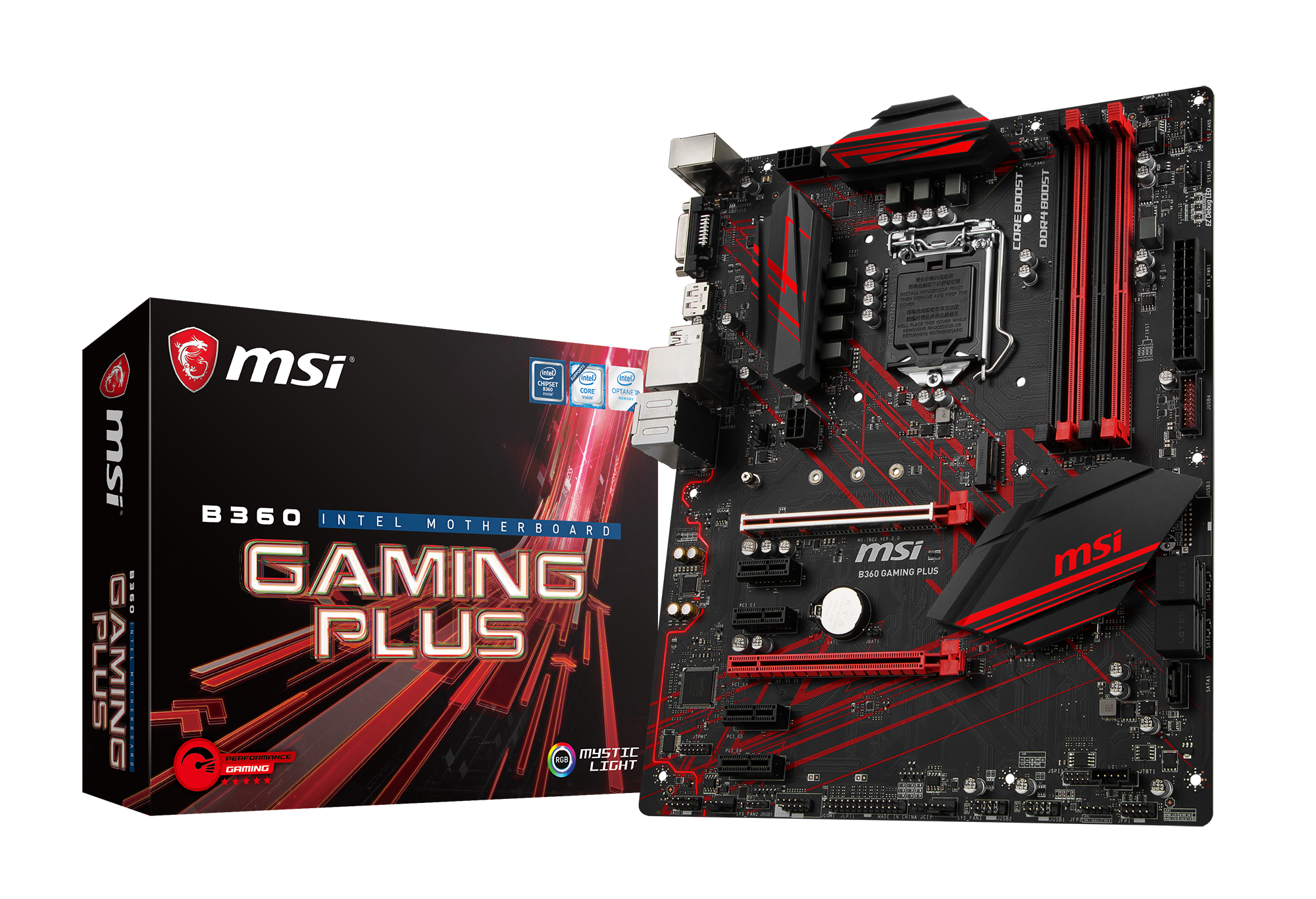 MSI B360 GAMING PLUS ATX LGA1151  Intel B360 Express