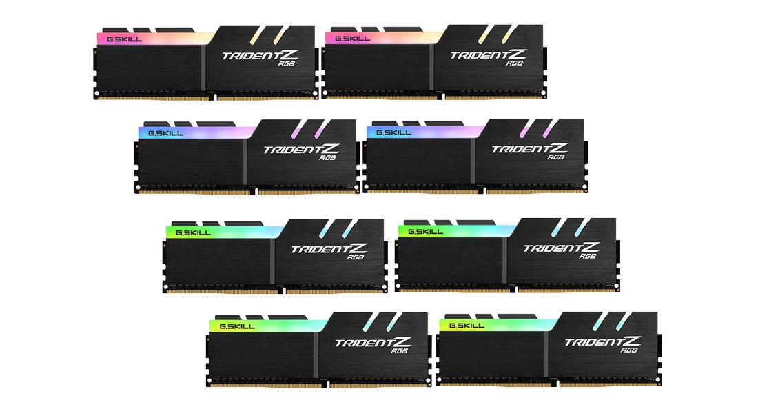 G.Skill TridentZ RGB Series - DDR4 - kit - 256 GB: 8 x 32 GB