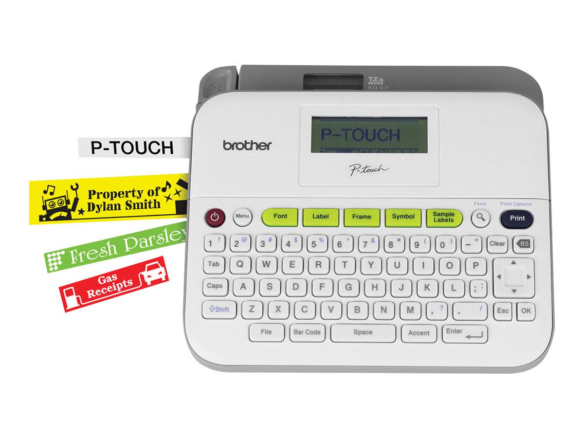 Brother P-Touch D400VP,  3,5 bis 18 mm Bandbreite,  inkl. Koffer und Netzadapter
