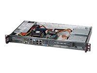 Supermicro SC505 203B - Rack-Montage - 1U - Mini-ITX