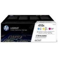 HP Toner cyan/magenta/yellow Nr. 410X (CF252XM) je ca. 5.000 Seiten, Tri-Pack