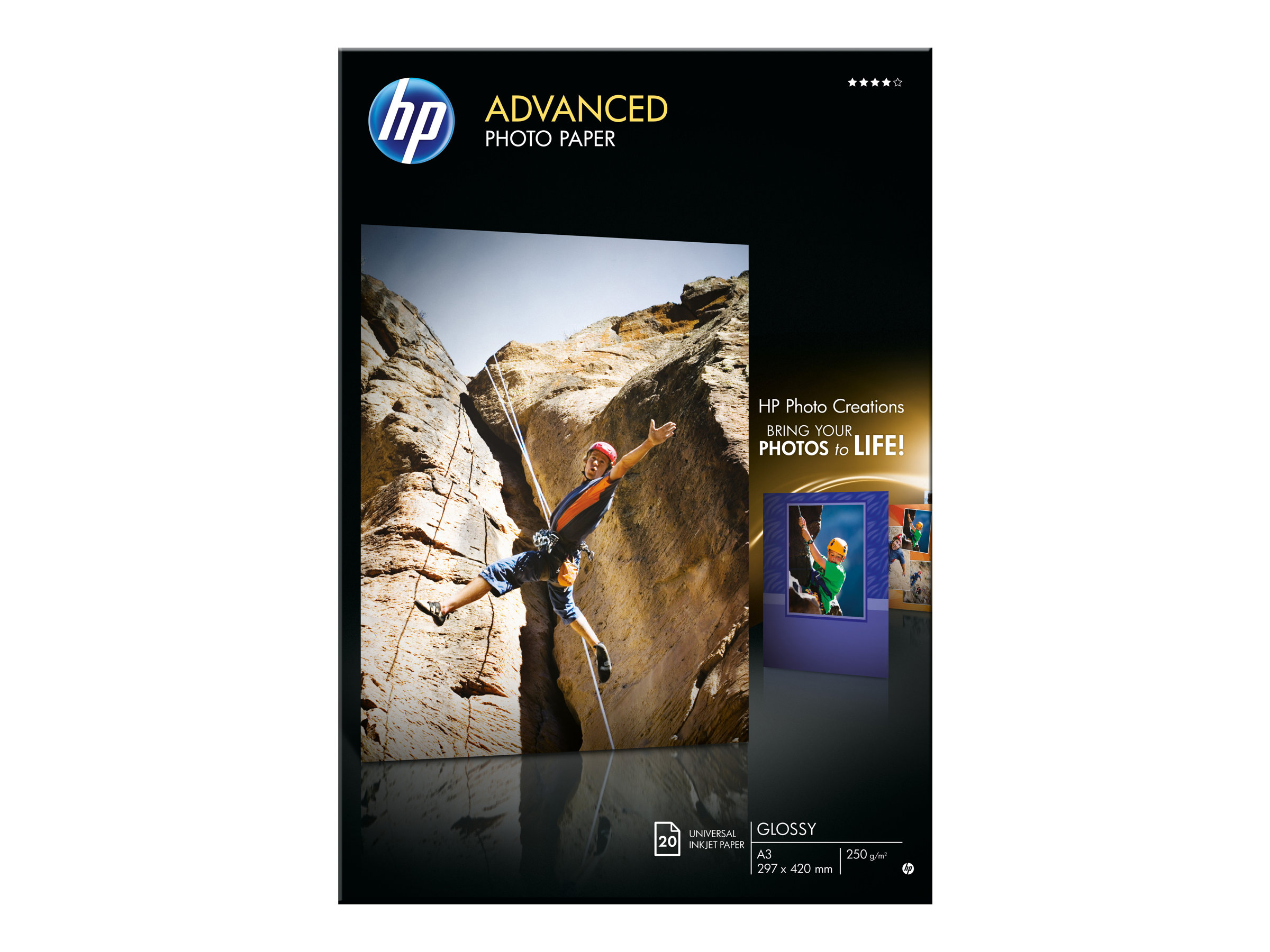 HP Advanced Photo Paper - Glänzend - A3 (297 x 420 mm)
