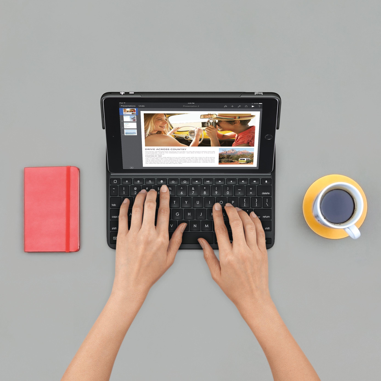 Logitech Create Smart Connector QWERTZ Deutsch Schwarz Tastatur für Mobilgeräte