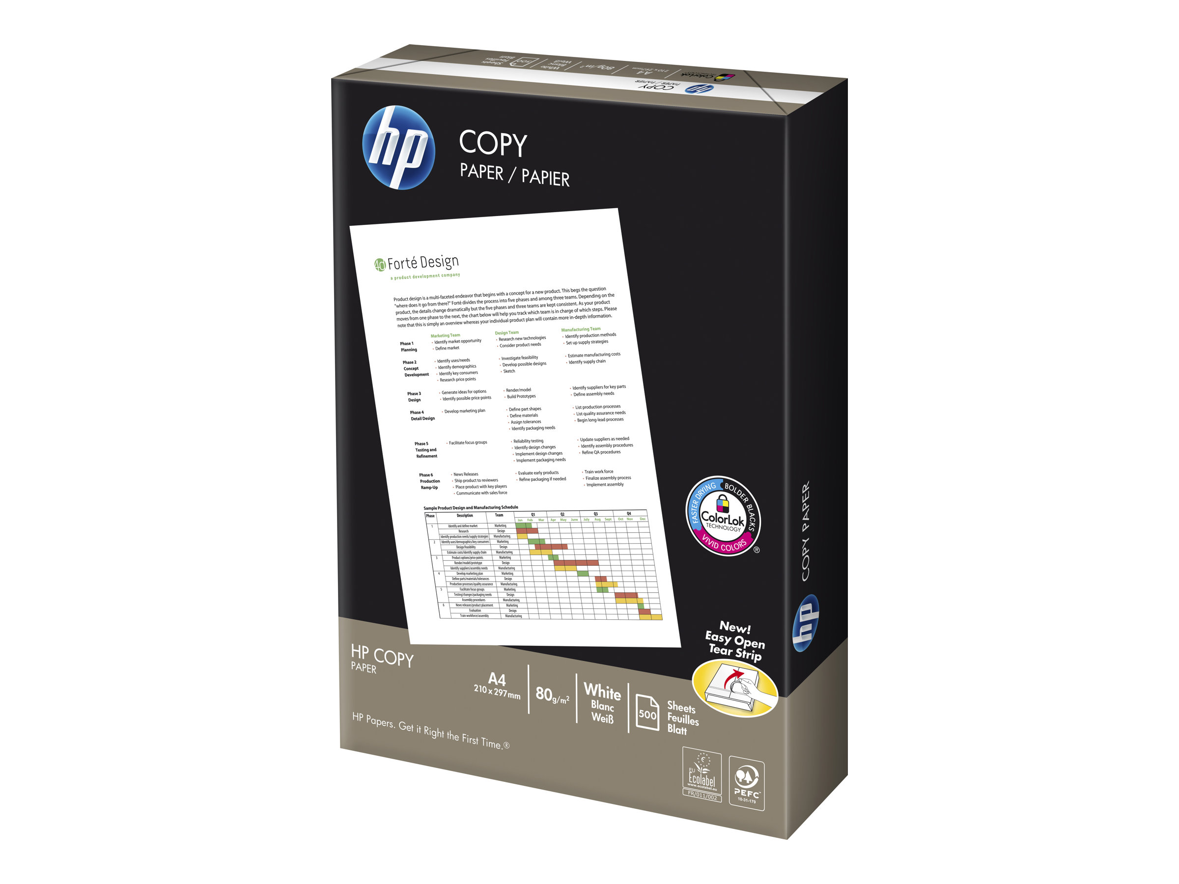 HP Copy Paper - A4 (210 x 297 mm) - 80 g/m² - 500 Stck. Papier
