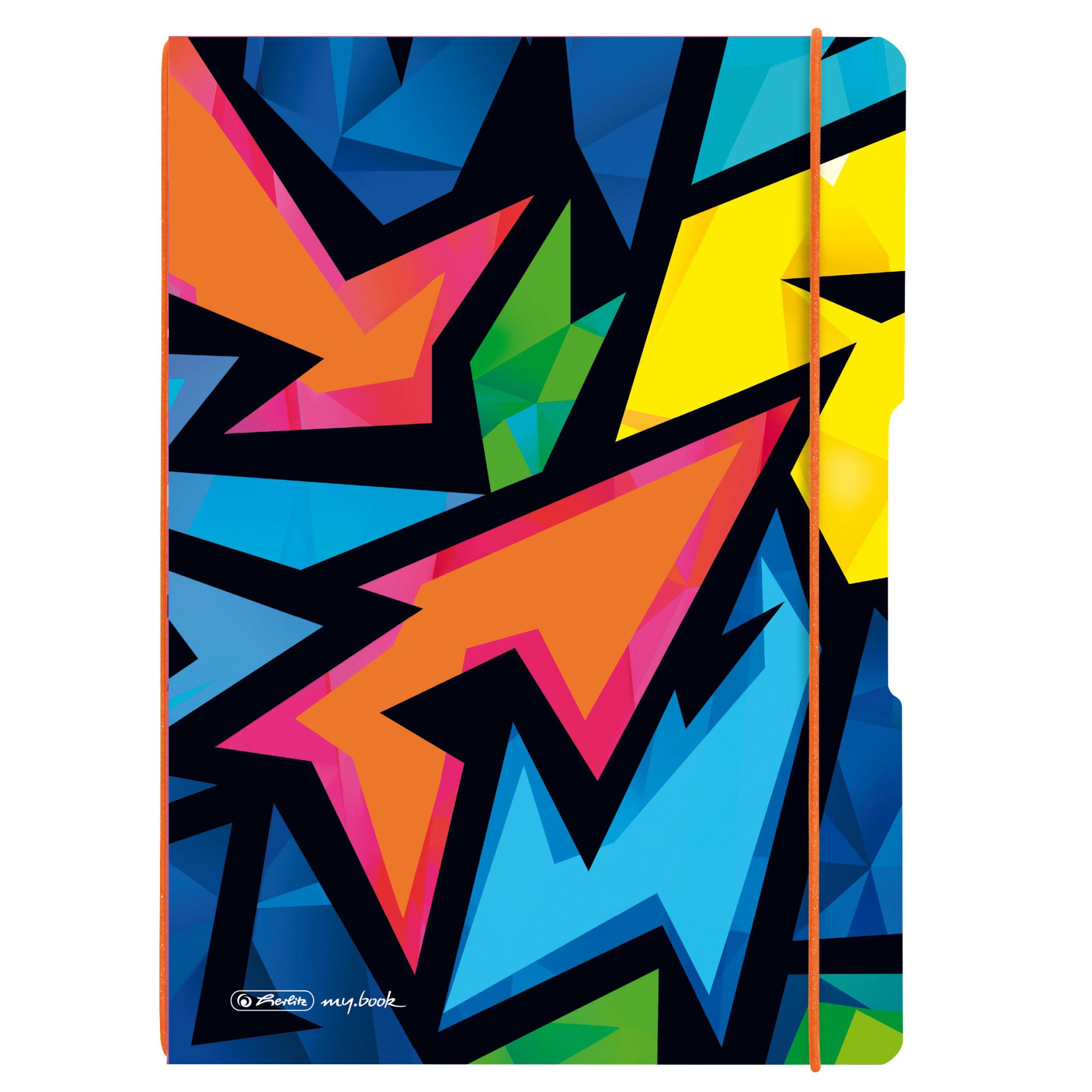Vorschau: Herlitz Neon Art - Muster - Mehrfarbig - A4 - 80 Blätter - 80 g/m² - Kariertes Papier