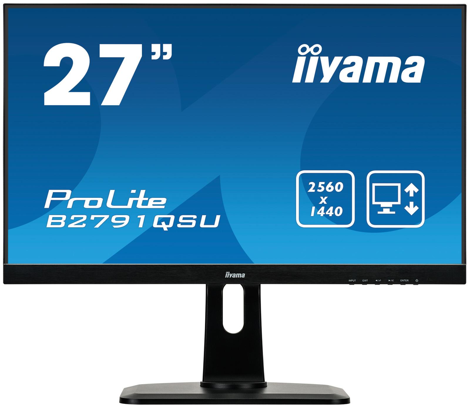 Iiyama ProLite B2791QSU-B1 - 68,6 cm (27 Zoll) - 2560 x 1440 Pixel - Quad HD - LED - 1 ms - Schwarz