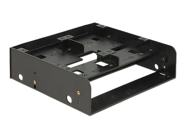 Delock Installation Frame - Laufwerksschachtadapter - 5,25 Zoll auf 1 x 3,5 Zoll und 2 x 2,5 Zoll oder 6 x 2,5 Zoll (13.3 cm to 1 x 8.9 and 2 x 6.4 cm or 6 x 6.4 cm)