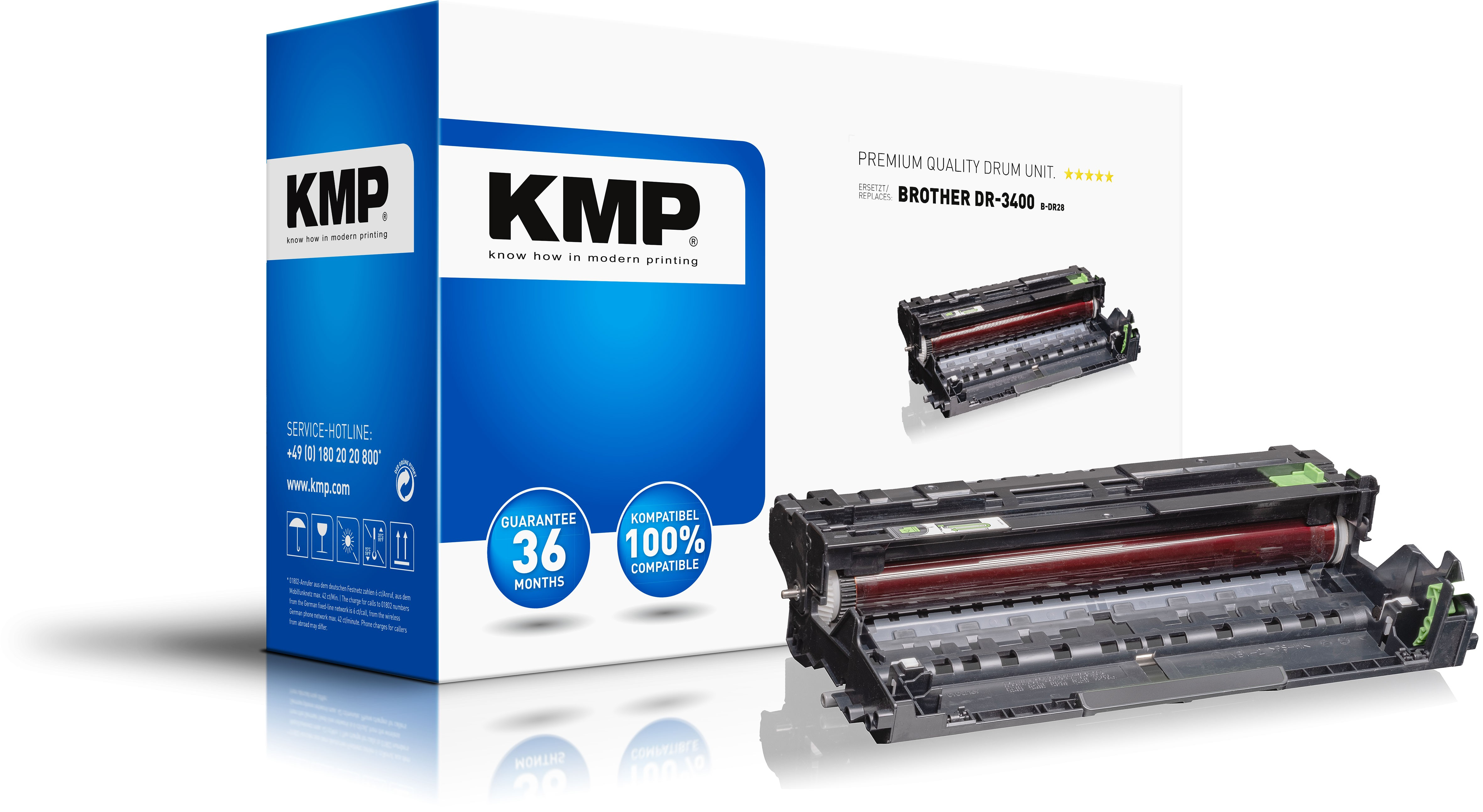 KMP B-DR28 - Kompatibel - Brother - DCP-L5500DN/DCP-L6600DW - HL-L5000D/HL-L5100DN/HL-L5100DNT/ HL-L5100DNTT/HL-L5200DW/HL-L6250DN/... - 1 Stück(e) - 52000 Seiten - Laserdrucken