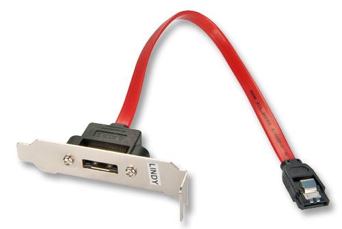 Lindy 1 Port eSATA Low Profile Backplate Adapter - Serielles ATA-Slotblech - intern/extern