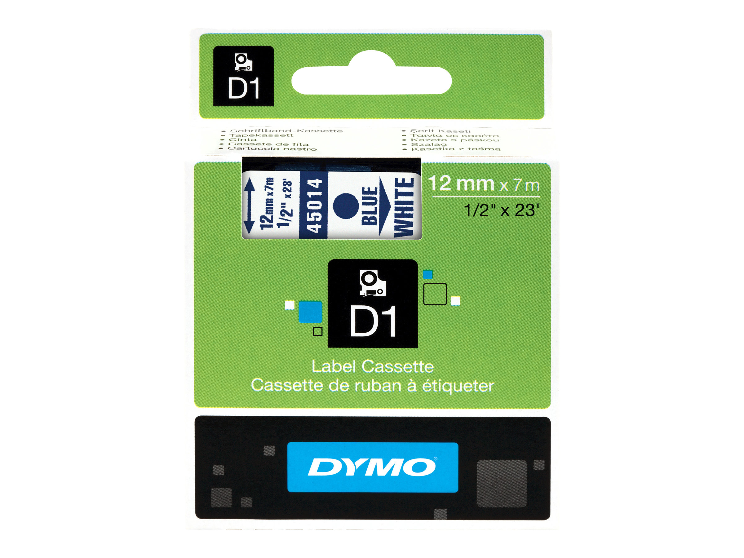 Dymo D1 Schriftband blau/weiß 12mm