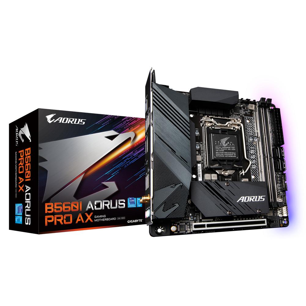 Gigabyte B560I AORUS PRO AX - Intel - LGA 1200 - Intel® Celeron® - Intel® Core™ i3 - Intel Core i5 - Intel Core i7 - Intel Core i9 - Intel® Pentium® - LGA 1200 (Socket H5) - DDR4-SDRAM - DIMM