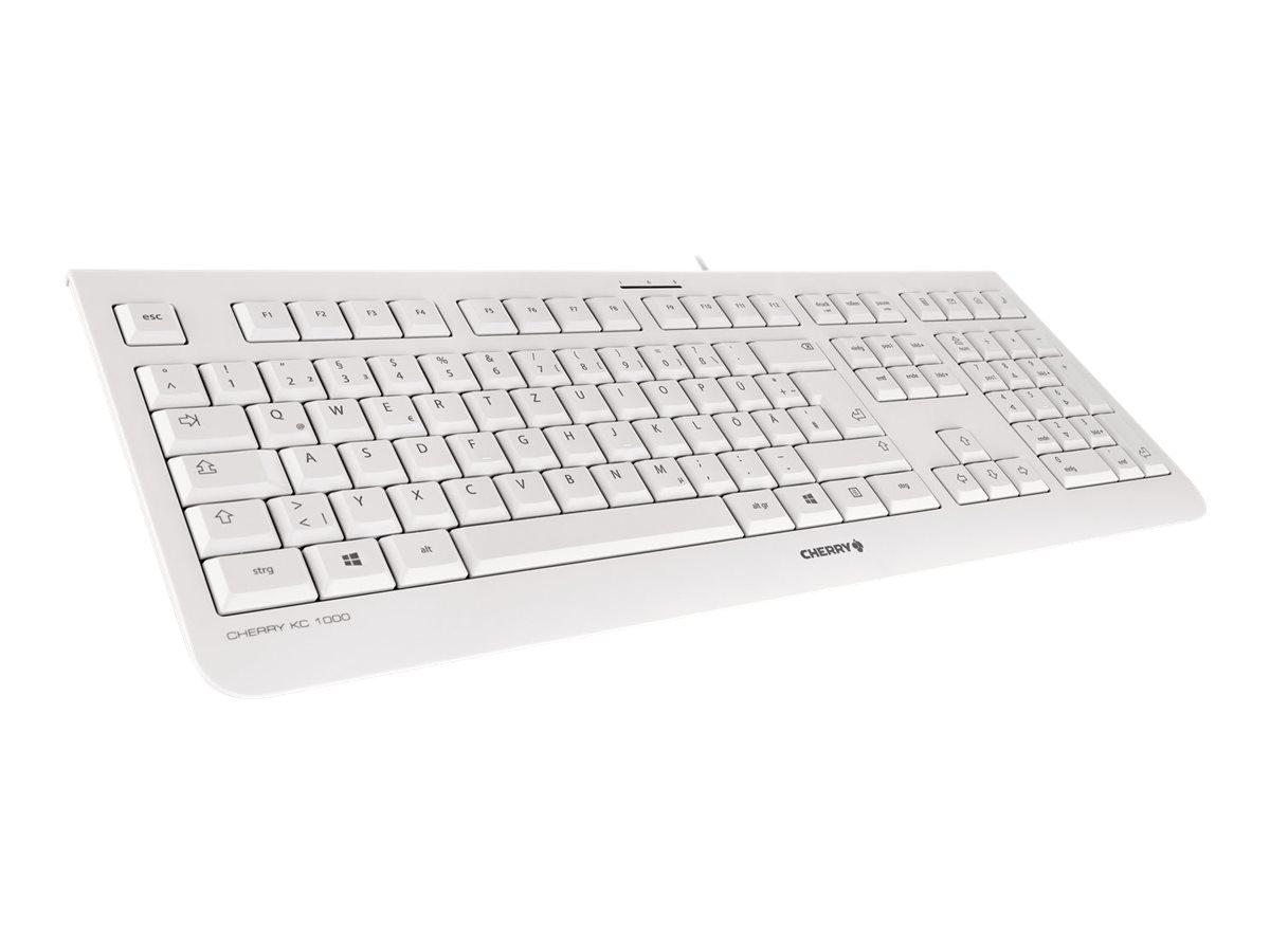 Cherry KC 1000 - Tastatur - Deutsch - Hellgrau