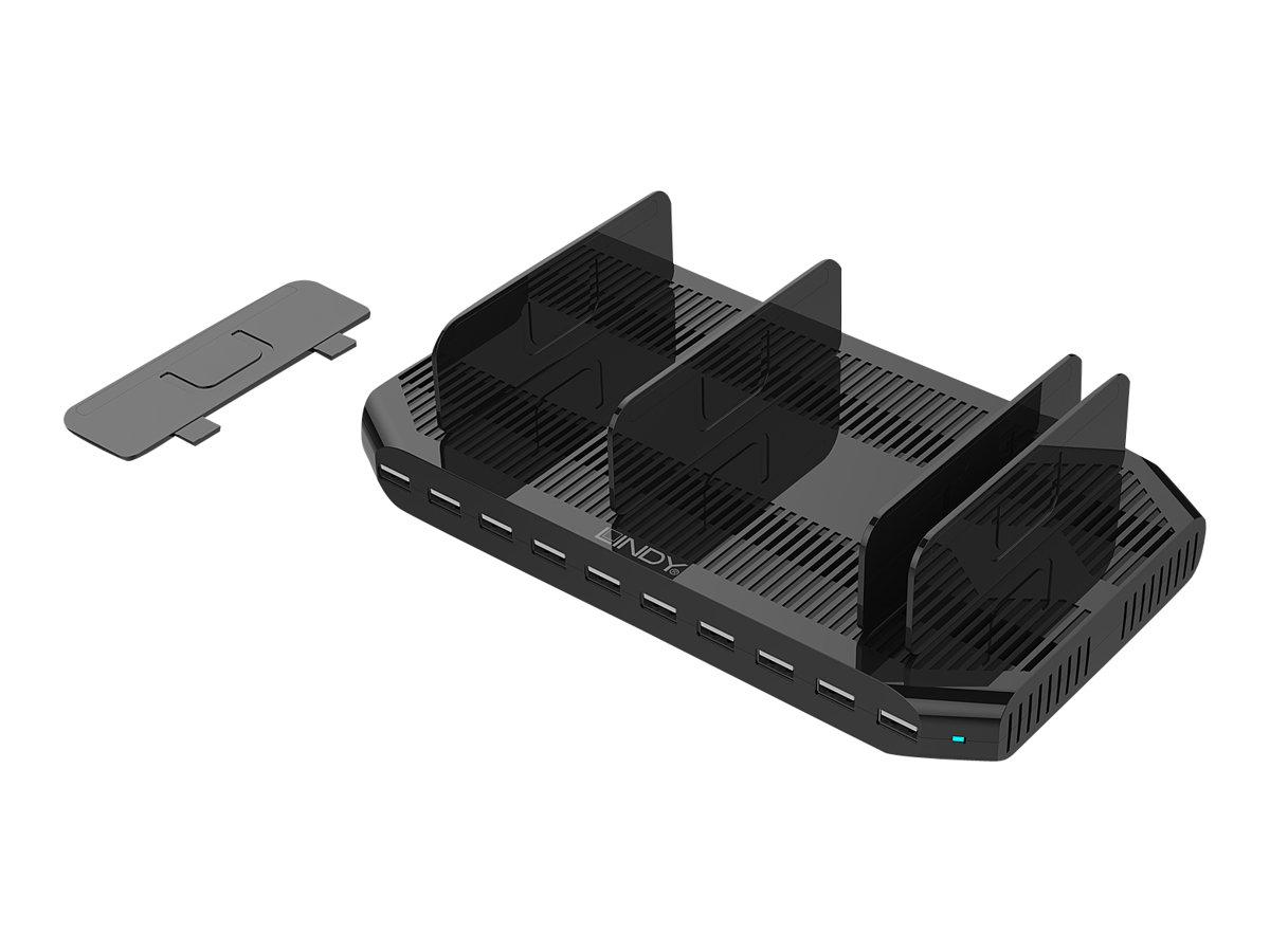 Lindy Netzteil - 2.4 A - 10 Ausgabeanschlussstellen (USB)
