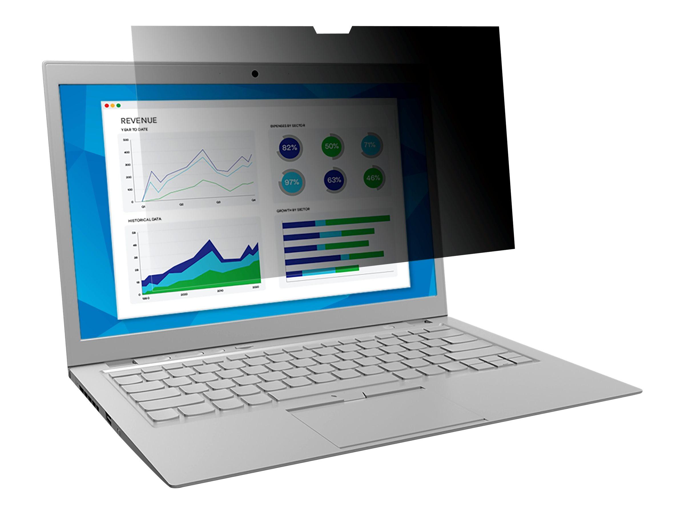 """3M Blickschutzfilter für Touch-Laptops for 14.0"""" Widescreen Laptop - Standard Fit with COMPLY Attachment System - Blickschutzfilter für Notebook - 35,6 cm Breitbild (14"""" Breitbild)"""