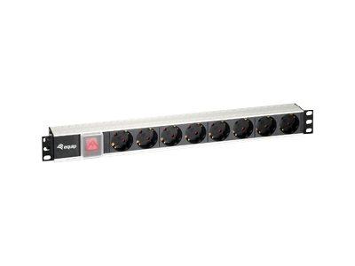 equip Stromverteilungseinheit - Wechselstrom 220-240 V - 3.5 kW - 8 Ausgangsstecker - 1U - 19