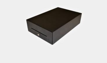 APG Cash Drawer NANO-0068 - Elektronische Geldschublade - Stahl - Schwarz - 370 mm - 12/24 V - 275 mm