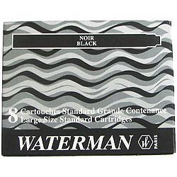 WATERMAN S0110850 - Schwarz - Füllfederhalter - Frankreich - Sichtverpackung - 8 Stück(e)