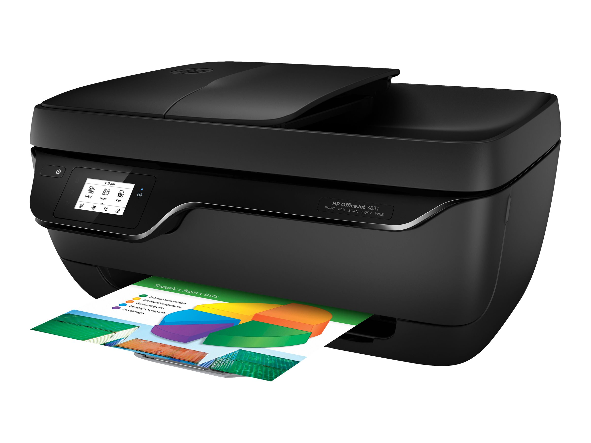 HP Officejet 3831 All-in-One - Multifunktionsdrucker - Farbe - Tintenstrahl - 216 x 297 mm (Original)