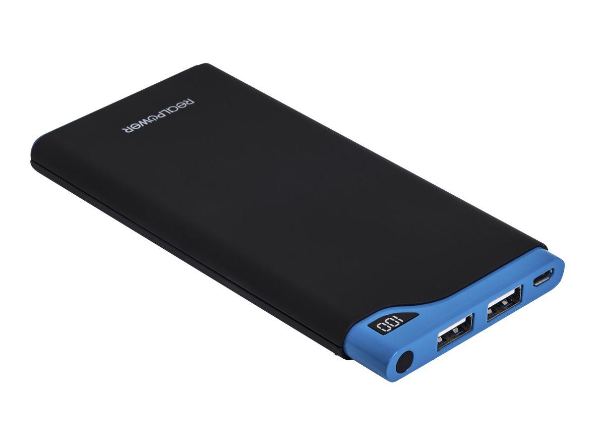 Ultron Realpower PB-10000S - Powerbank - 10000 mAh - 2400 mA - 2 Ausgabeanschlussstellen (USB)