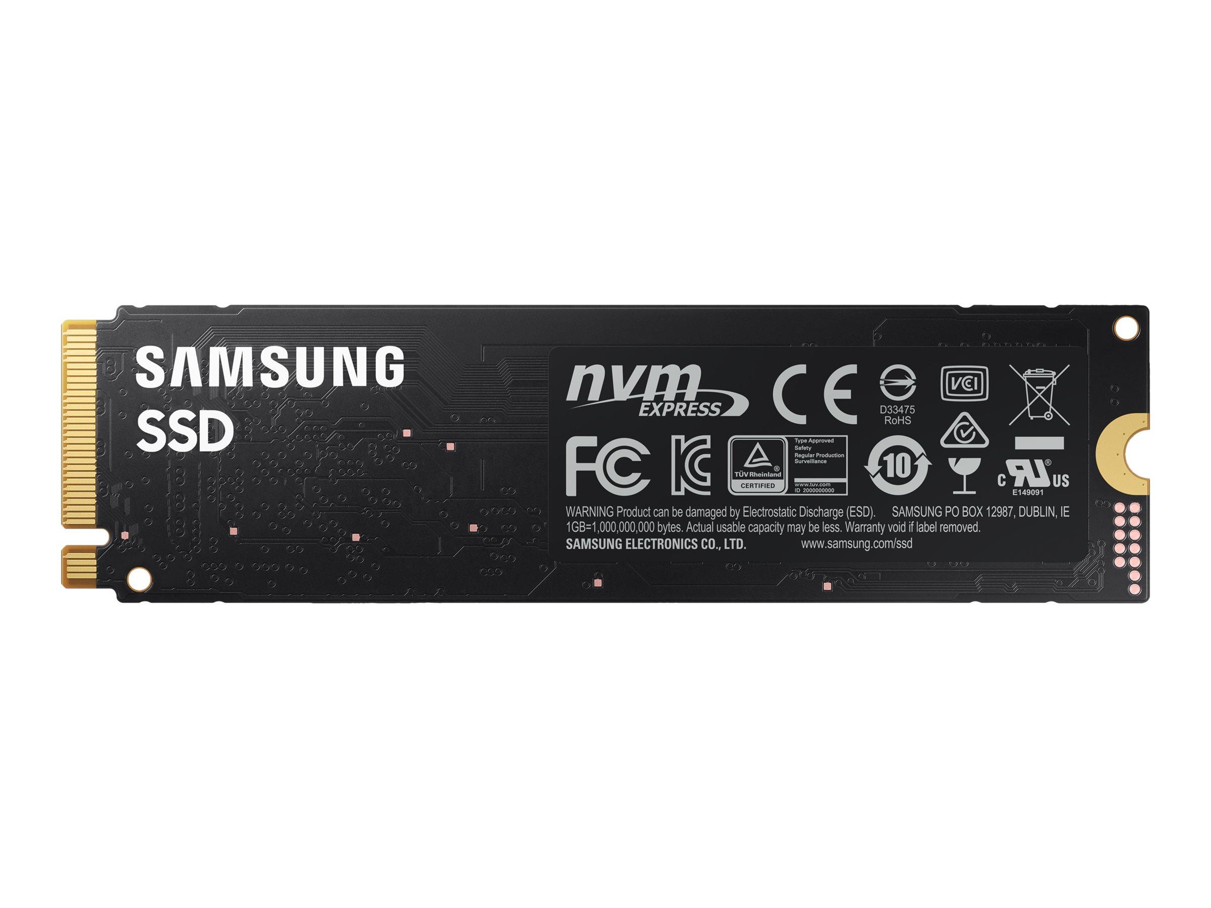 Samsung 980 MZ-V8V500BW - 500 GB SSD - intern - M.2 2280 - PCI Express 3.0 x4 (NVMe)