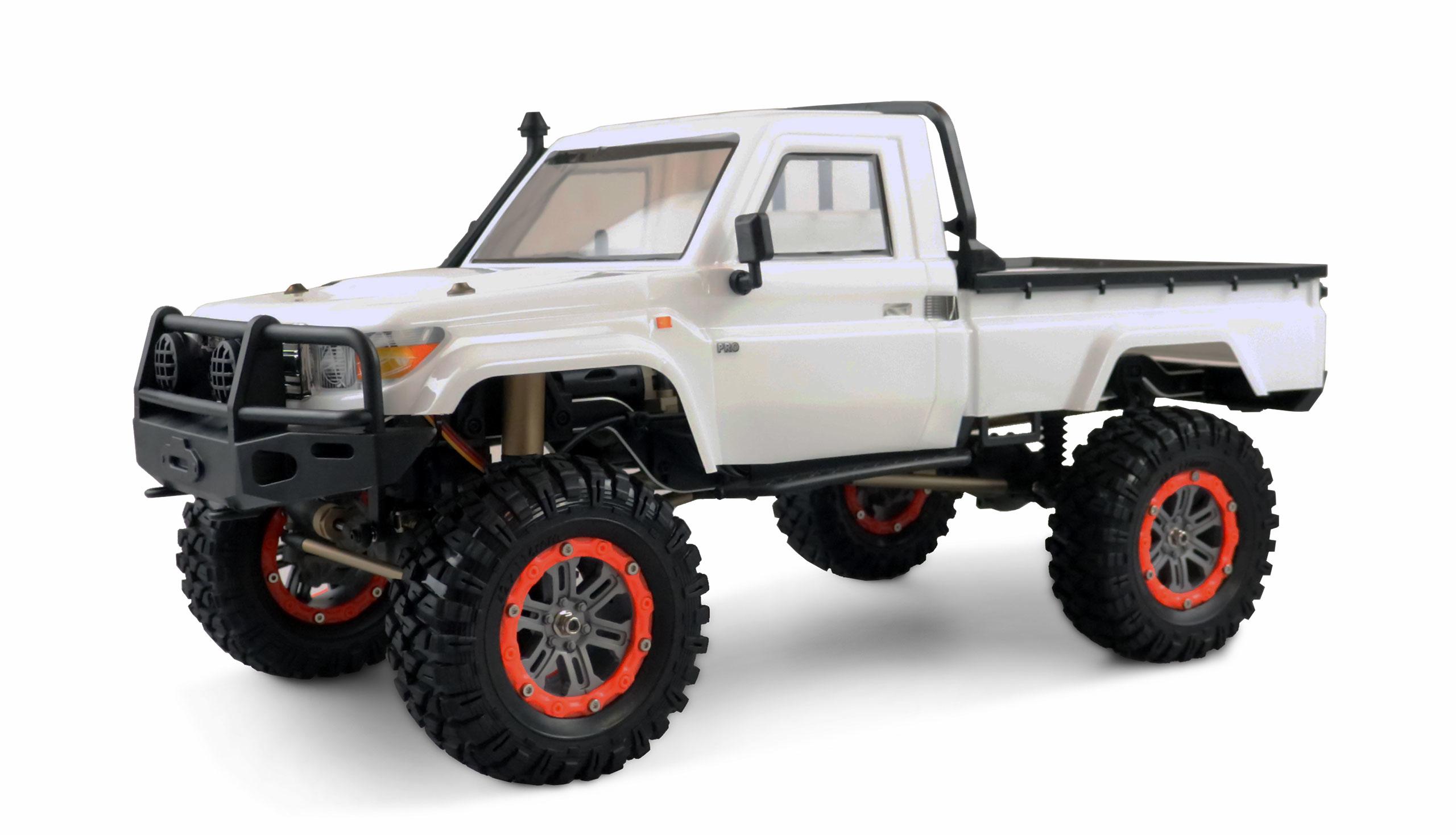 Vorschau: Amewi AMXRock RCX10P Scale Crawler - Raupenfahrzeug - Elektromotor - 1:10 - Betriebsbereit (RTR) - Schwarz - Weiß - Aluminium - Metall
