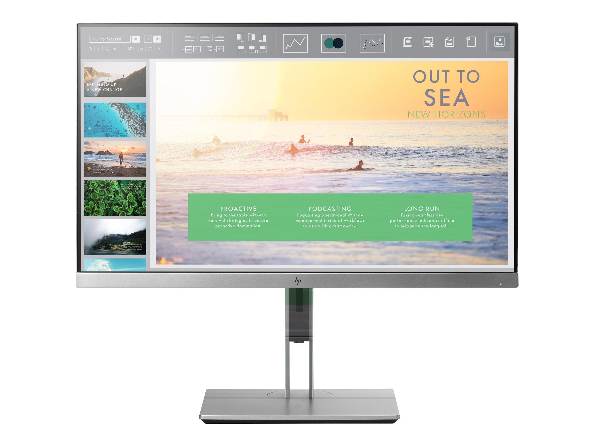 "HP EliteDisplay E233 - LED-Monitor - 58.42 cm (23"") 1920 x 1080 Full HD (1080p) - IPS - 250 cd/m² - 1000:1 - 5 ms - HDMI - VGA - DisplayPort"