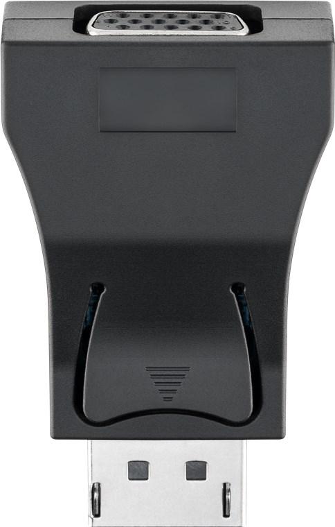 Goobay 71793 - DisplayPort - VGA - Männlich/Weiblich - Schwarz