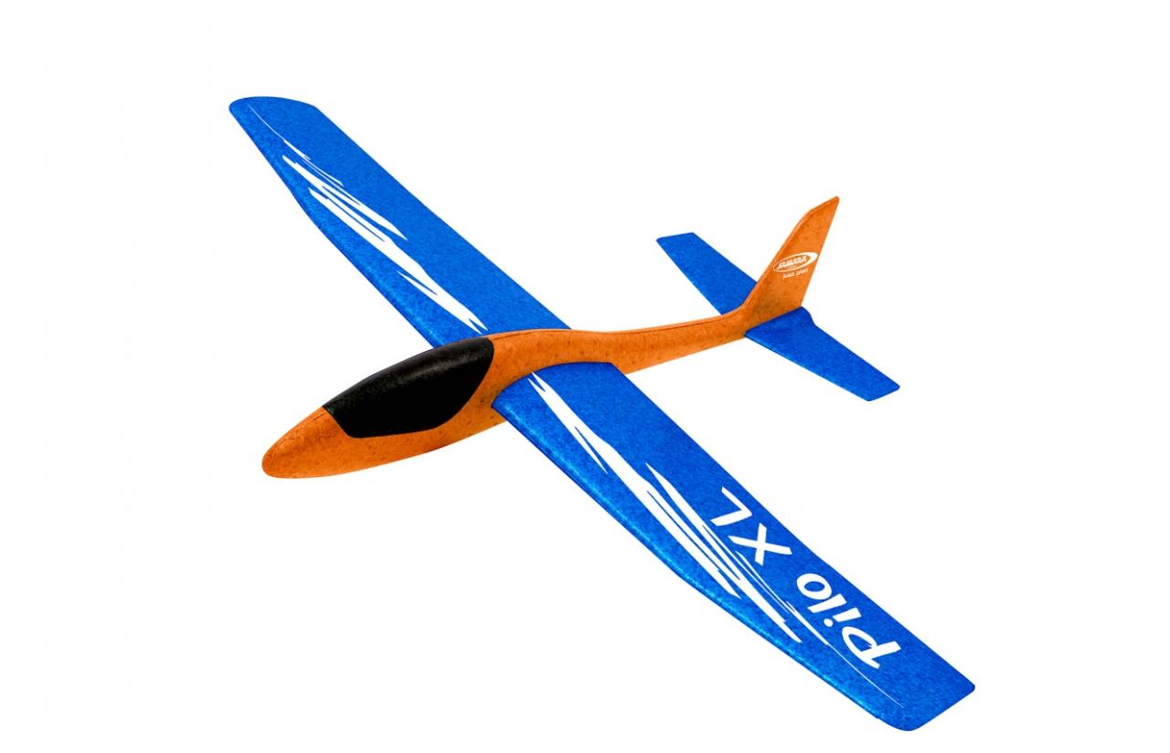 JAMARA Pilo XL Schaumwurfgleiter EPP Tragfläche blau Rumpf orange - Spielzeug-Segelflugzeug - Schaum - 1 Stück(e) - Blau - Orange - Montagesatz - 8 Jahr(e)