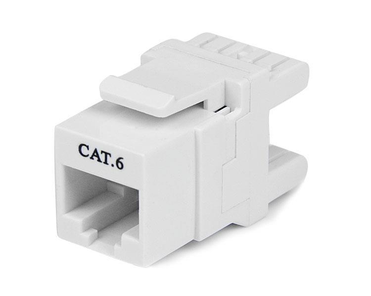 StarTech.com Cat6 Keystone Modul 180° - Ethernet RJ45 Wanddose Typ 110 - Weiß
