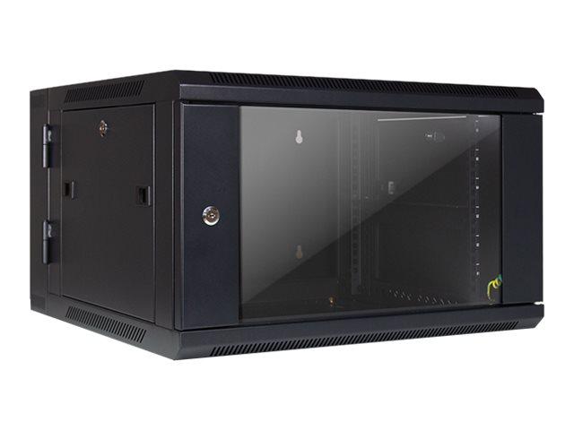 """Inter-Tech SMB-6606 - Gehäuse - geeignet für Wandmontage - Schwarz, RAL 9005 - 6U - 48.3 cm (19"""")"""