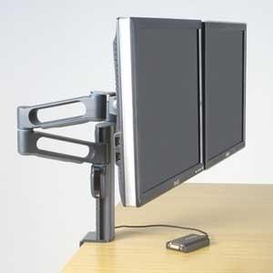 Kensington Dual-Monitorarm mit Säulenhalterung - SmartFit