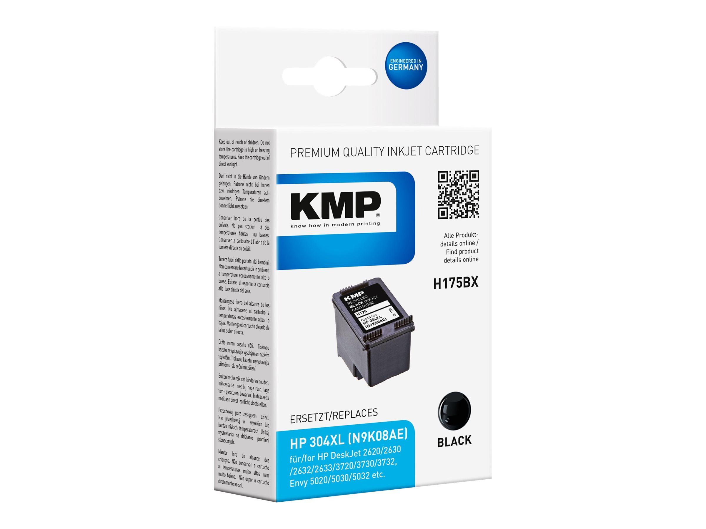 KMP H175BX - Hohe Ergiebigkeit - Schwarz - kompatibel - Tintenpatrone (Alternative zu: HP 304XL)