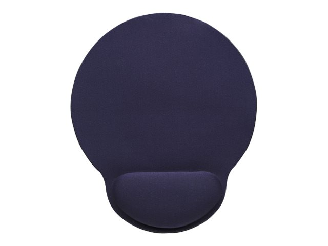 Manhattan Wrist Gel Support Pad and Mouse Mat, Blue, 241 × 203 × 40 mm, non slip base, Lifetime Warranty, Card Retail Packaging