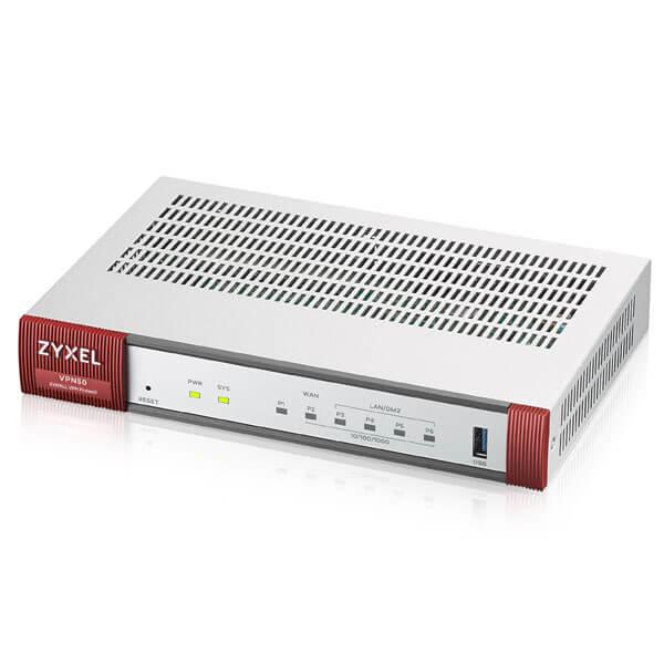 ZyXEL VPN Firewall VPN 50 - 800 Mbit/s - 150 Mbit/s - 40,92 BTU/h - 44000 h - Verkabelt - Ethernet (RJ-45)