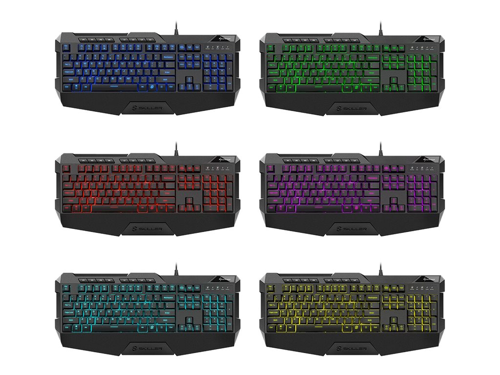 Sharkoon Skiller SGK4 - Tastatur - backlit - USB