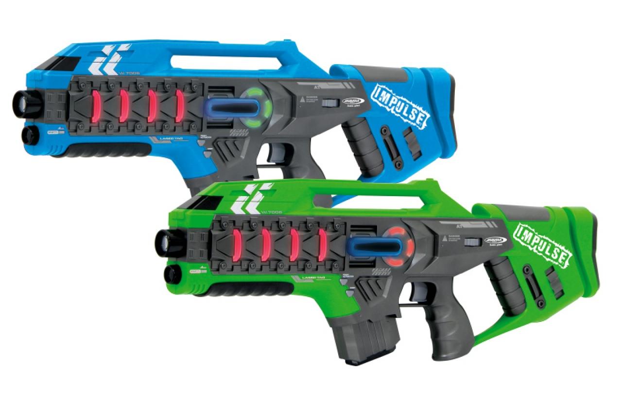 JAMARA 410084 - Spielzeugpistole - Junge/Mädchen - Blau - Grün - 2 Stück(e)