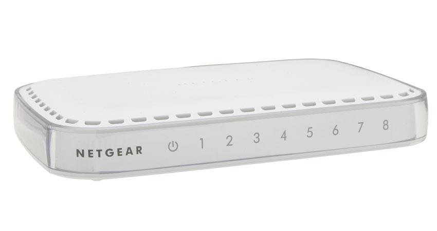 Netgear GS608-400PES Unmanaged network switch L2 Gigabit Ethernet (10/100/1000) Weiß Netzwerk-Switch