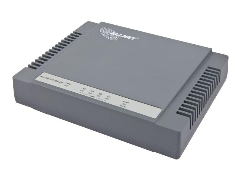 ALLNET ALL-BM100VDSL2V - Router - DSL-Modem - 4-Port-Switch
