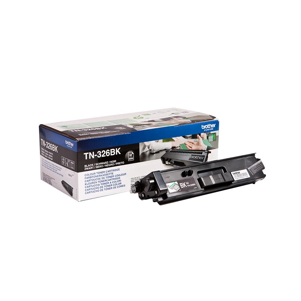 Brother TN-326BK Lasertoner 4000Seiten Schwarz Lasertoner / Patrone
