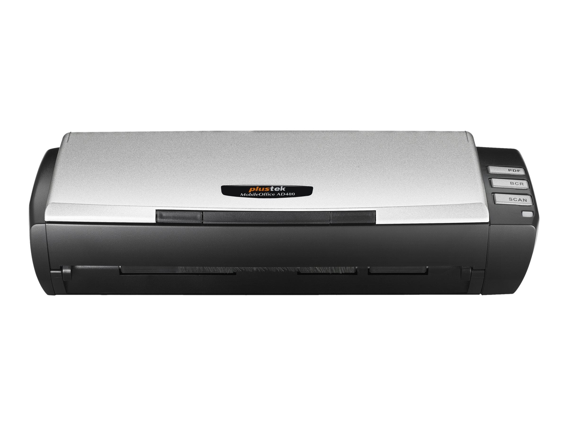 Plustek MobileOffice AD480 - Dokumentenscanner - Duplex - A4/Letter - 600 dpi x 600 dpi - bis zu 20 Seiten/Min. (einfarb